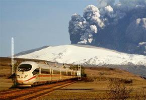 Bahn und Vulkan