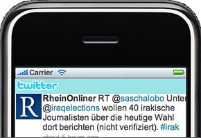 Rhein-Onliner twitter im iPhone