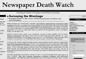 Newspaper Death Watch